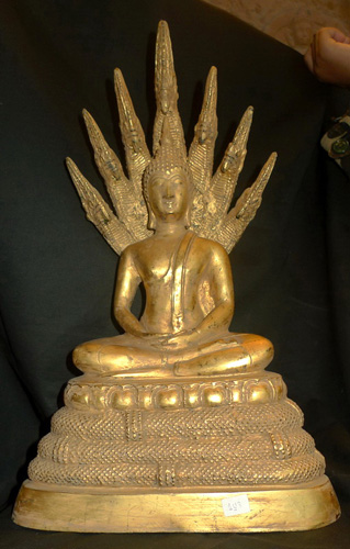 K4680-UI Buddha under 7 headed naga  Status : Inquire Click on picture for enlarge