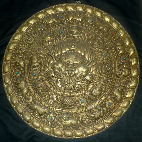 K5440-HC Votive plaque, zodiac, Chhepu  Status : Inquire Click on picture for enlarge