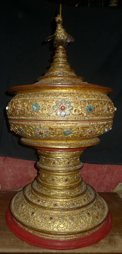 K5580-TB Hsun Hok - temple food vessel, big size, with top  Status : Inquire Click on picture for enlarge