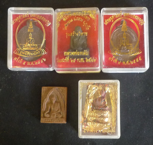 Set of 5 Buddha amulets