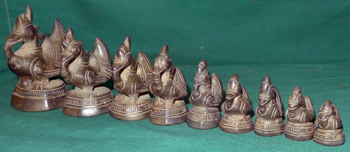 Set of 9 opium weights