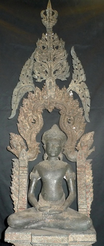 K6420-BP Lopburi Buddha with shrine  Status : Inquire Click on picture for enlarge