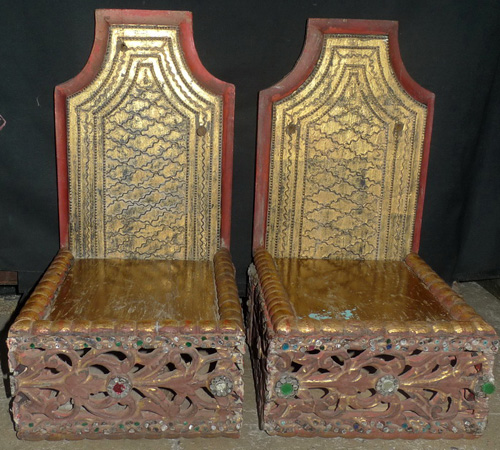 Pair of shrines for Buddha