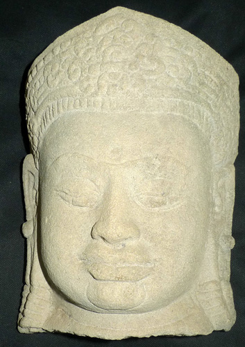 Khmer deity head