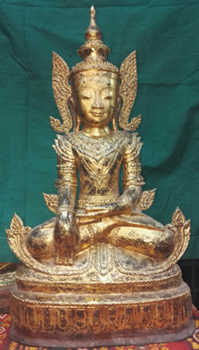 K9130-BB Crowned Buddha  Status : Inquire Click on picture for enlarge