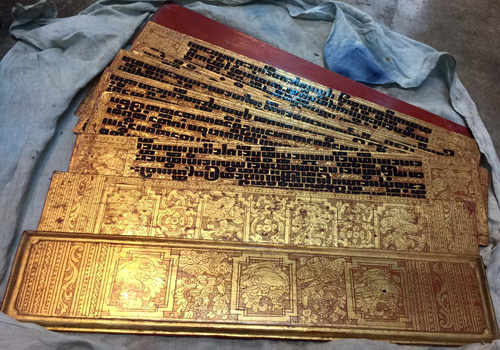 K9750-RE Kammavacca, Buddhist bible, 16 + 8 pages  Status : Inquire Click on picture for enlarge