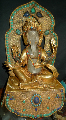 L3480-HS Ganesh on base  Status : Inquire Click on picture for enlarge