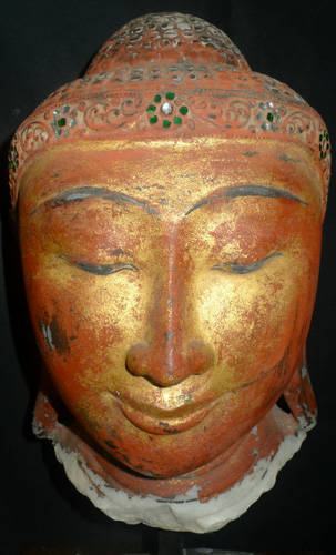 L3770-HM Mandalay Buddha's head  Status : Inquire Click on picture for enlarge
