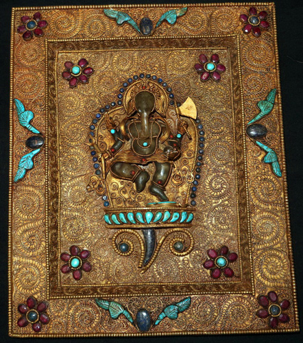 Votive Ganesh plaque