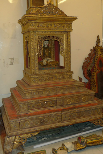 Temple Buddha shrine (sold empty)