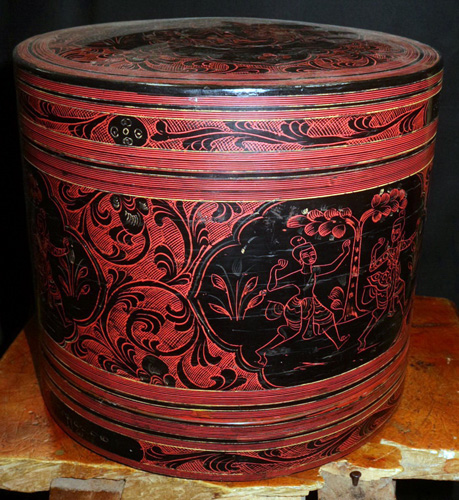 Antique Cosmetic box, lacquerware. A lot of other size and designs