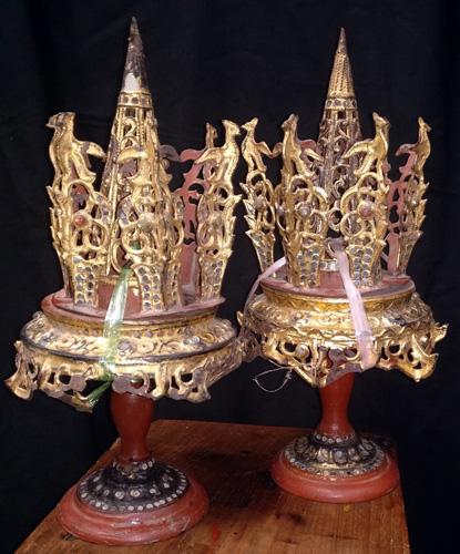 Pair of betel leaves holder