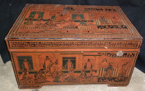 L8380-RE Temple chest  Status : Available Click on picture for enlarge