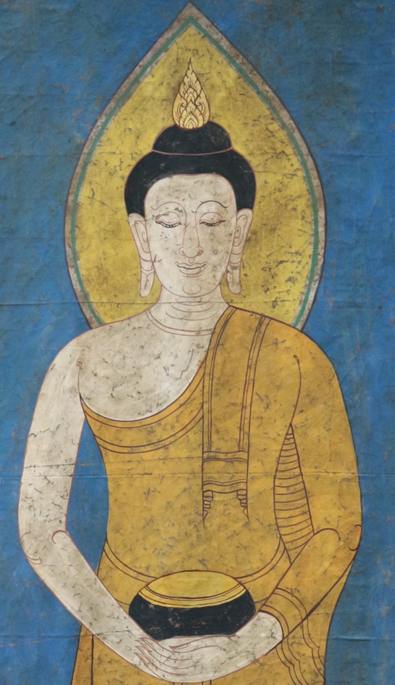 Giant Buddhist banner, sold by one