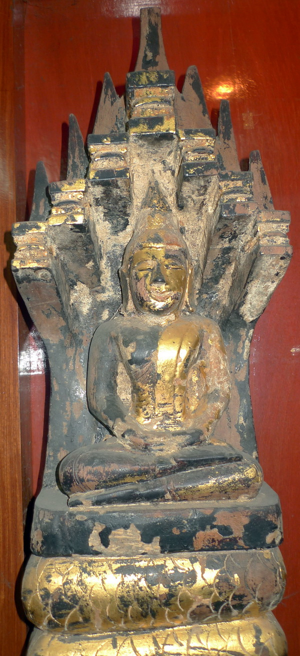 Lao Folk Buddha under 7 headed naga