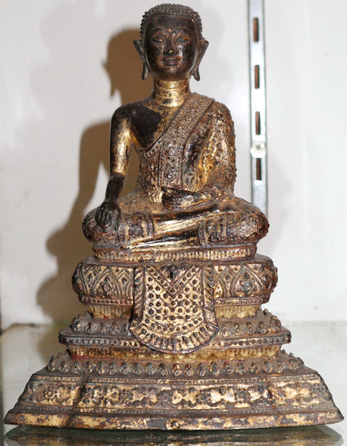 Buddha as a monk on base