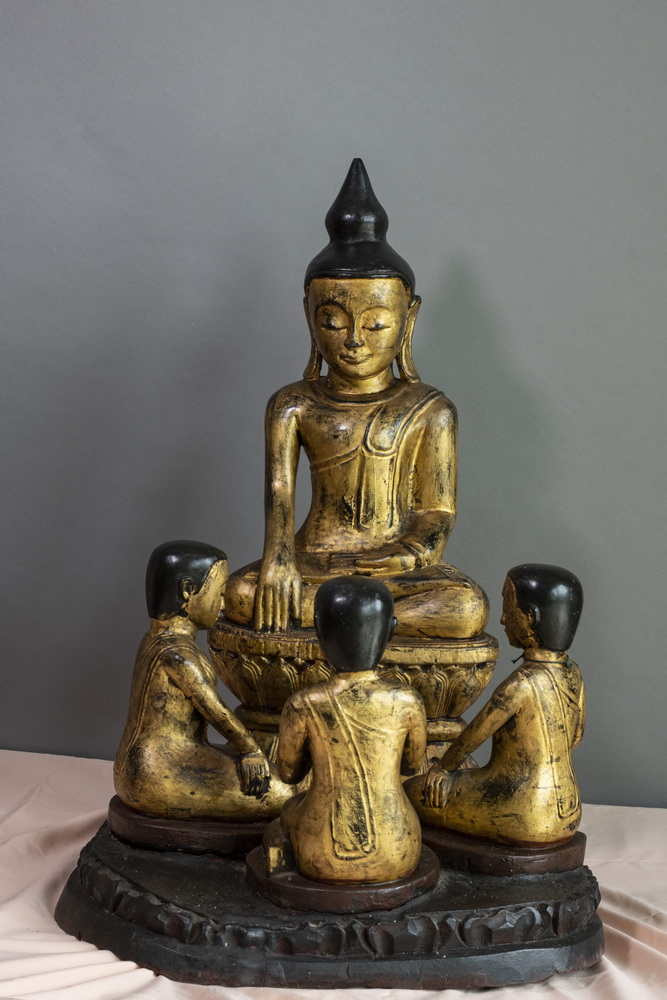 MAKE AN OFFER - Shan Buddha and 3 nats