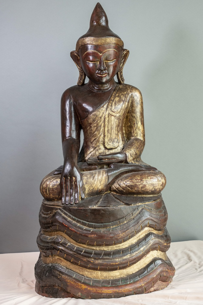 MAKE AN OFFER - Shan Buddha on naga