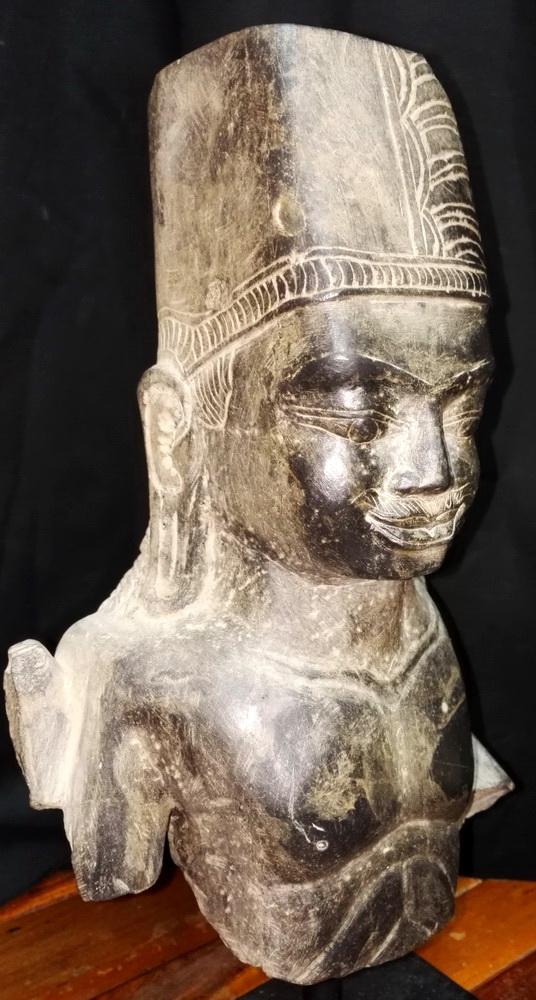 Khmer deity head