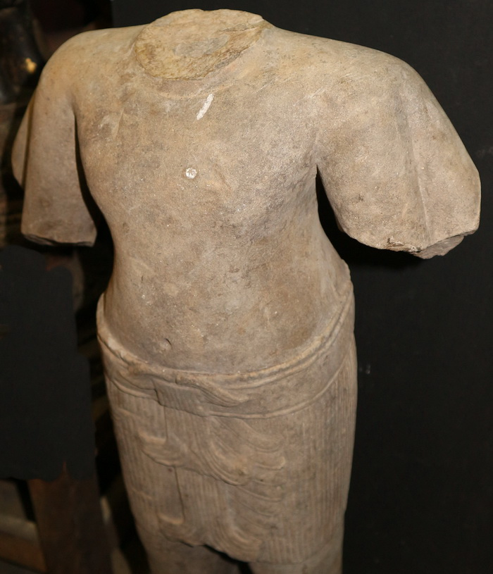 Khmer deity bust