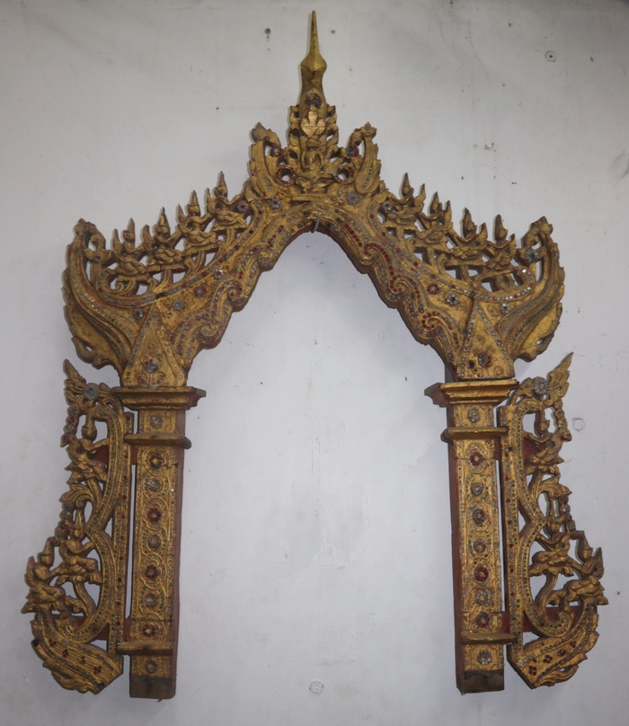 Temple mirror frame