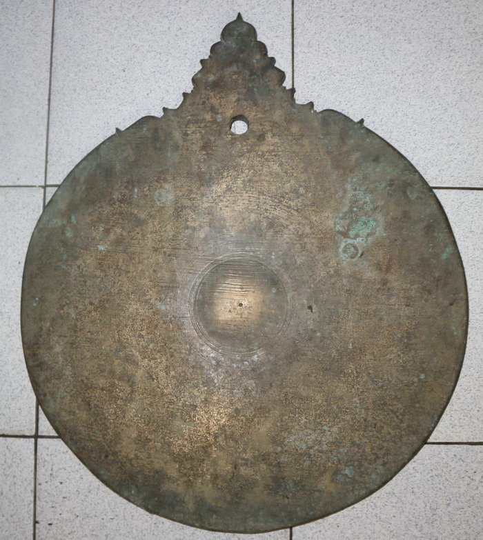 Spinning gong, round shape