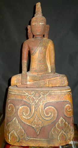 Colored Buddha on base