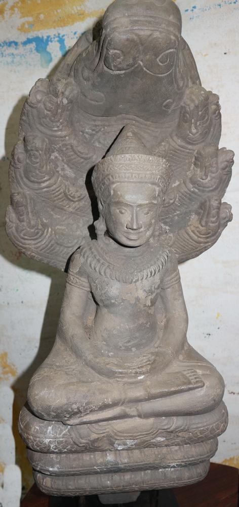 Lopburi Buddha under 7 headed naga