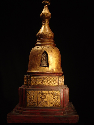 Stupa Chedi with relic inside - located in Europe