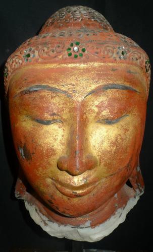 Mandalay Buddha's head