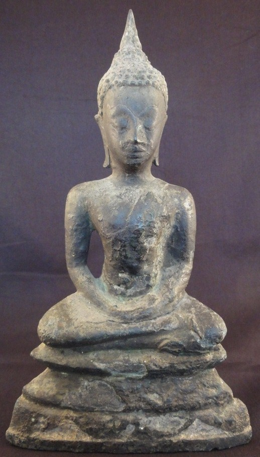 Ayutthaya Giant Buddha amulet, located in Europe