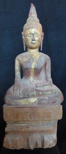 Lanna folk Buddha, located in Europe