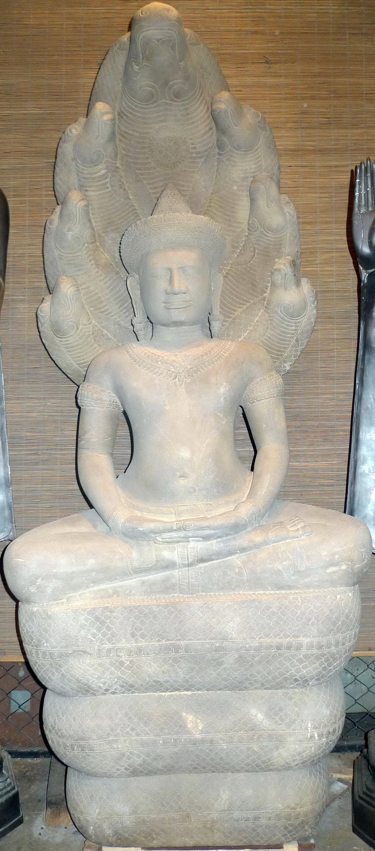 Khmer Buddha under 7 headed naga