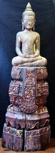 Khmer Buddha on base