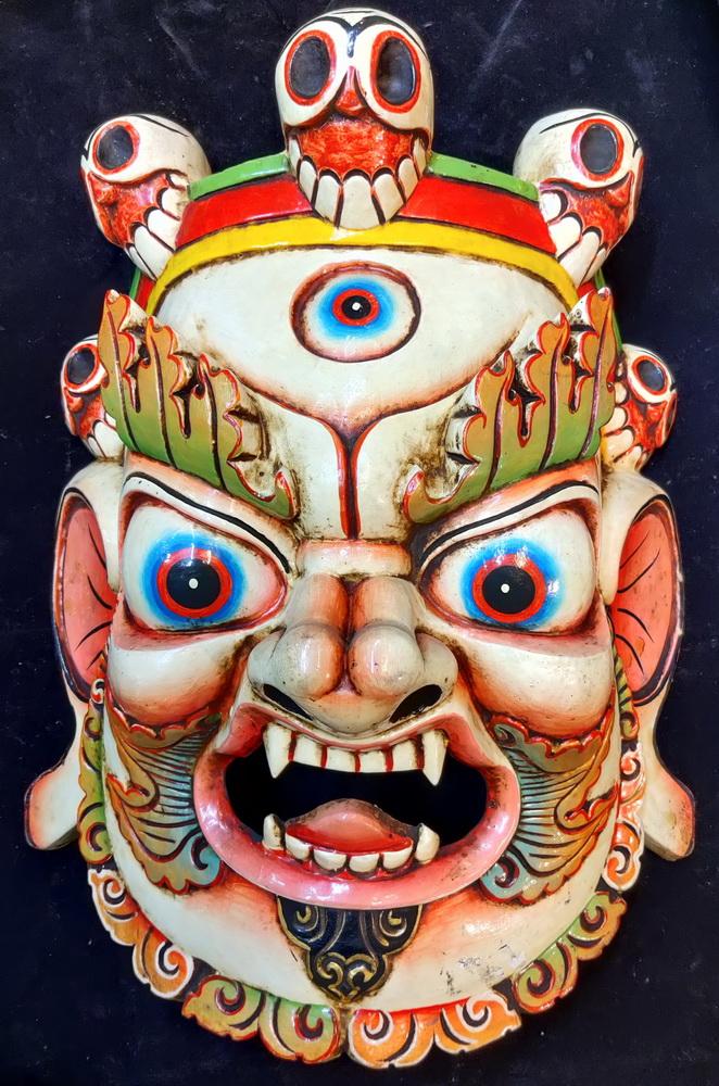 Giant Tibetan deity mask