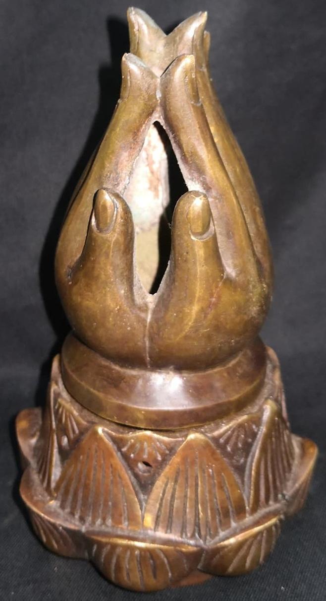 Buddha's hands on lotus