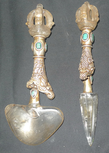 Set of kartika and vajrikala
