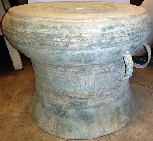 Rain drum w/ old patina
