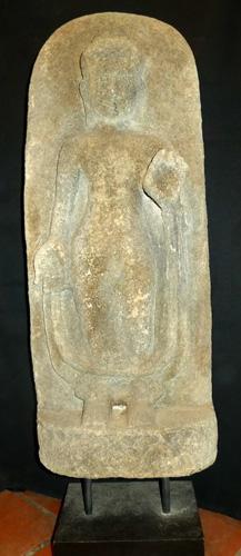 Khmer Buddha bas relief