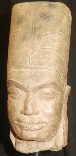 Khmer Vishnu head